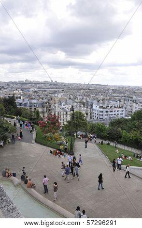 PARIS,FRANCE-AUGUST19-View of Paris from basilica Sacre Coeur