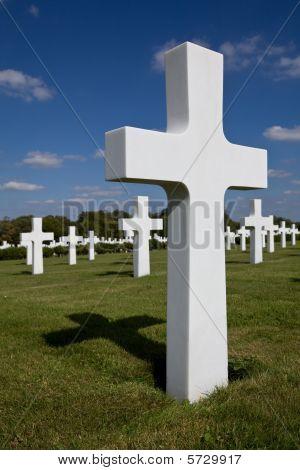 White headstone Cross