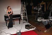Cynthia Basinet shooting the video for her new single