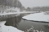 Snowfall On The River