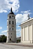 pic of stanislaus church  - St. Stanislaus Cathedral and bell tower in the square of Vilnius