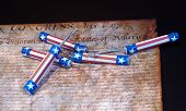 stock photo of preamble  - The Declaration of Independence with red - JPG