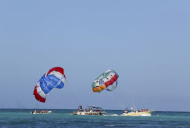 picture of parasailing  - PUNTA CANA - JPG