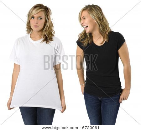 Female With Blank Shirts