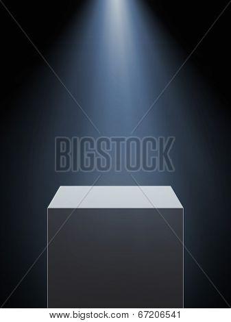 Empty Showcase With Spotlight