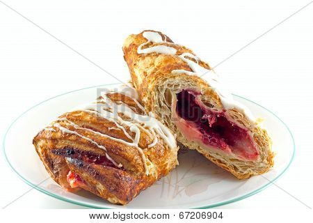 Cherry Bavarian Cream Strudel