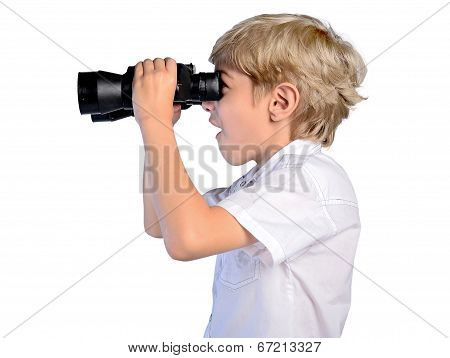 Young Boy With Binoculars