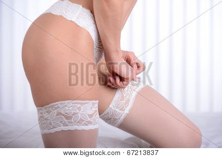 Woman In Underwear