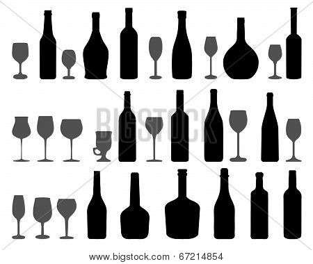 glasses and bottles