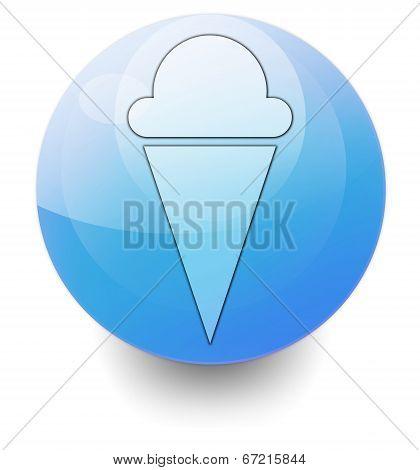 Icon, Button, Pictogram Ice Cream