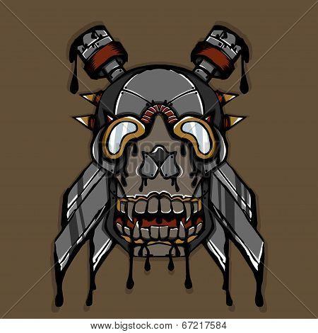 Steampunk Ink Skull