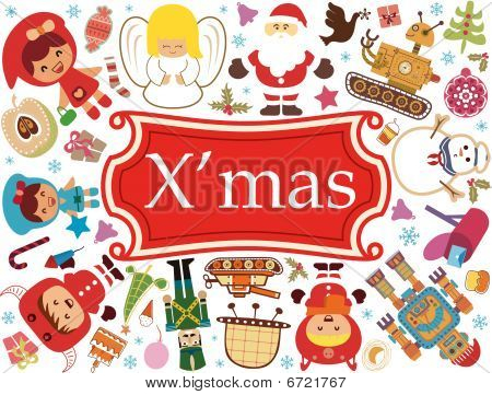 Christmas Cartoon Characters 1