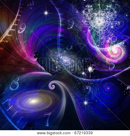 Space Time and Quantum Physics Elements of this image furnished by NASA
