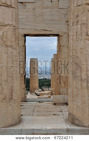 Acropolis Propylaia Ancient Columns