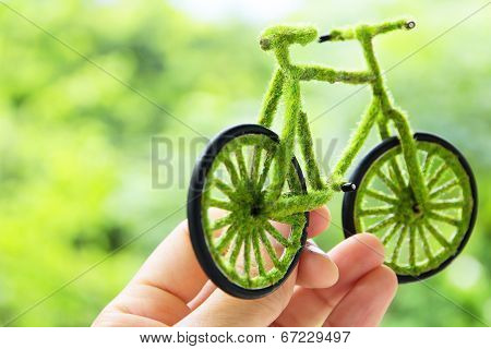 Eco bicycle icon concept