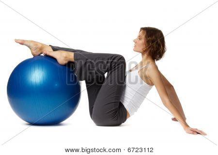 Woman With Gymnastic Ball