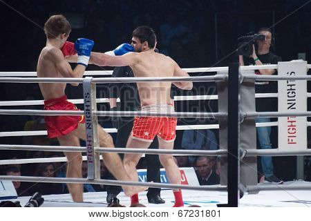 Moscow - March 20: Alexander Mischenko And Timur Aylyarov On Fights Tournament Fight-15: Revenge On