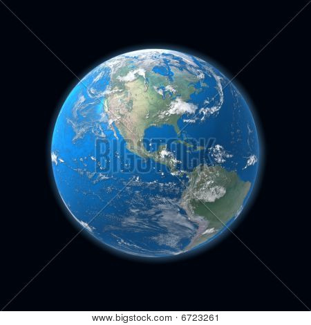 high detailed Earth map, america, usa,