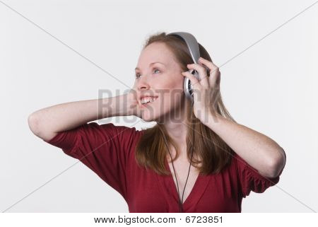 Woman With Headphones-01