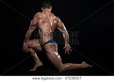 Dream Body On Black Background