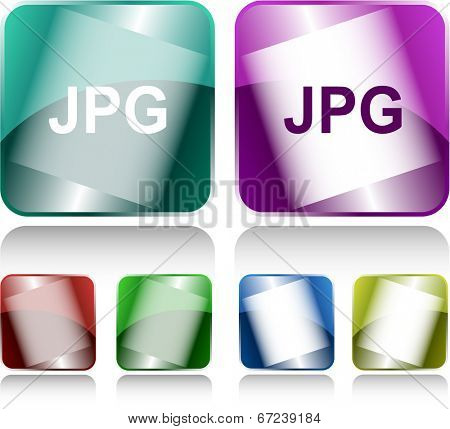 Jpg. Internet buttons. Raster illustration.