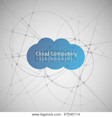Cloud Computing Concept. Eps 10 Stock Vector Illustration