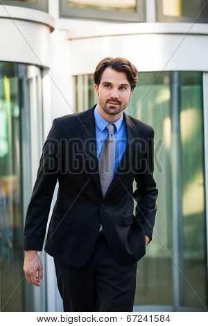 Businessman Standing Waiting For Someone