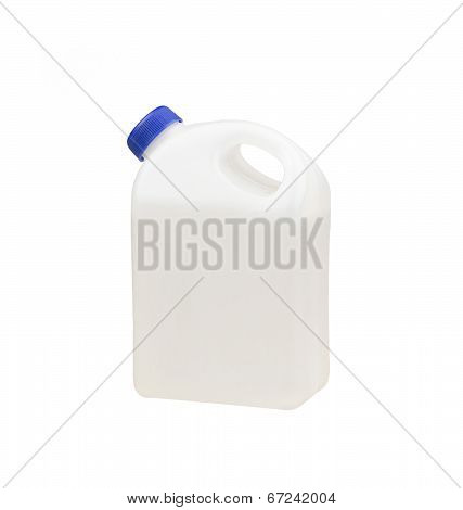 1 gallon of liquid container without label