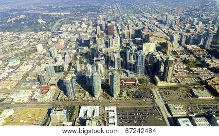 Aerial View Of Downtown San Diego