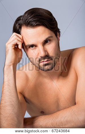 Handsome Sexy Bearded Man