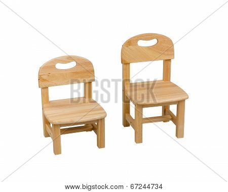 small wooden chairs