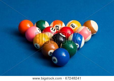 Billiard Balls Ready For The Break