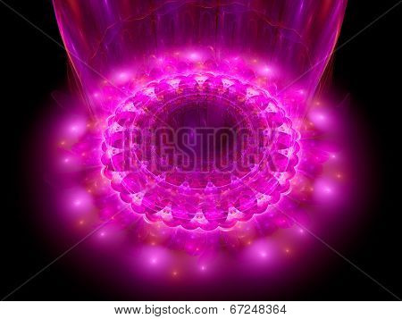 The Heart Of Purple Mandala