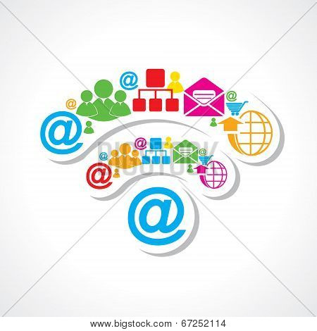 small icons make wi-fi sign stock vector