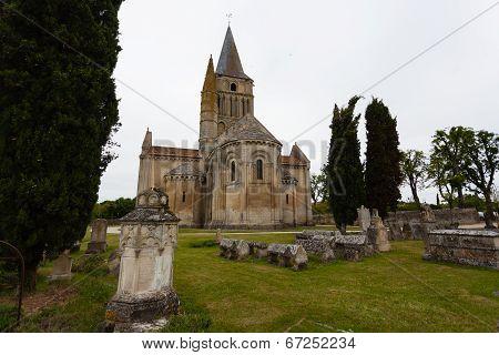East View Of Aulnay De Saintonge Church