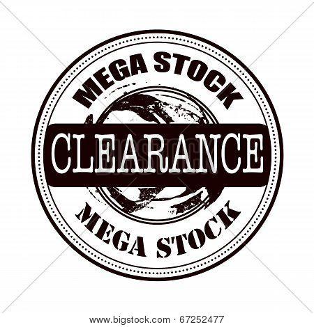 Mega Stock Clearance Stamp