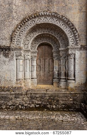 North Door Of Notre-dame De L'assomption De Fenioux.church , Xii Century