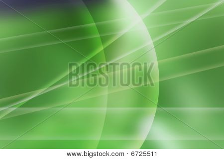 Abstract Composition Green Prism