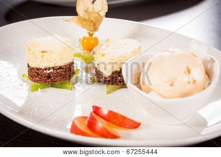Gourmet Coffee Blanc Mange With Gooseberry