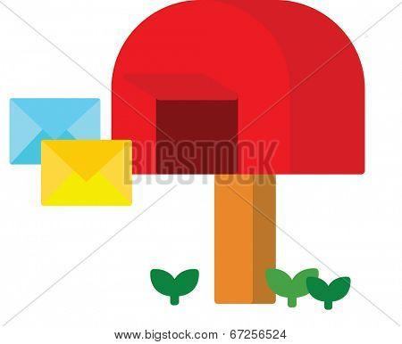 The view of letterbox with letter