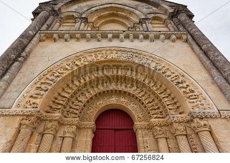 South Door Of Aulnay De Saintonge Church