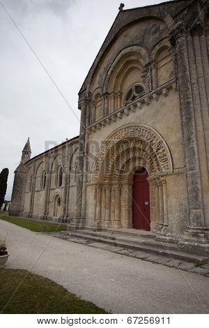 South Facade View Of Aulnay De Saintonge Church
