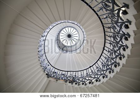 LONDON UK - MAY 15, 2014  Queen s palace tulips stairs, 1619  Was built as an adjunct to the Tudor P