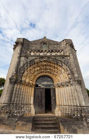 West Facade Of Notre-dame De L'assomption De Fenioux.church , Xii  Century