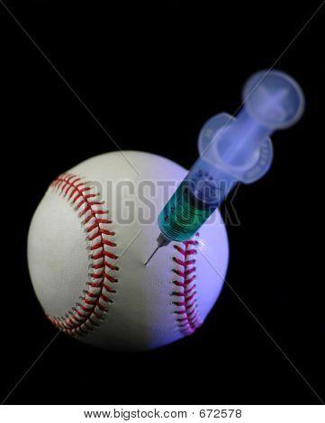 Baseball und Spritze