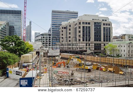 City of London building site