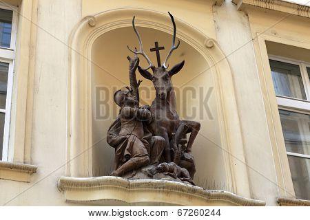 Sculpture Of Saint Hubert With A Deer