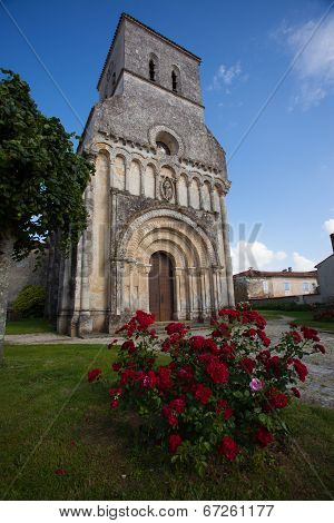 Rioux Church With Flowers