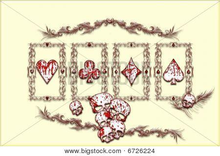 Encaracolado florais Aces