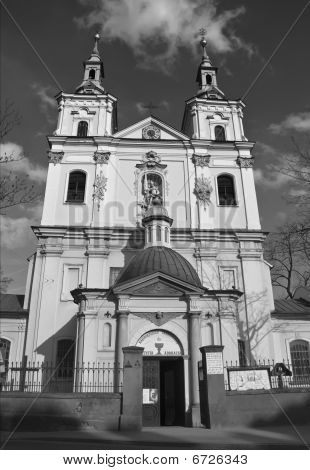 Beautiful Polish Church In The City Of Krakow